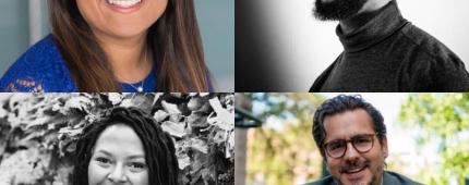 Clockwise: Sana Meghani, Meghan Bates, Nick Bailey, Samuel Franco